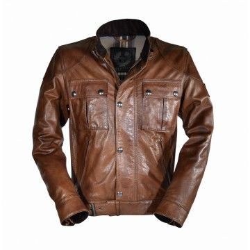 BELSTAFF - Men's Leather Jacket - Gangster 2.0 - Cognac