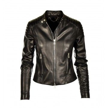 BELSTAFF - Ladies Leather Jacket - Mollison - Black