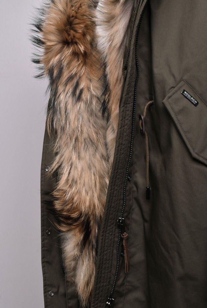 the latest a515a 823b0 Woolrich Cascade Damen Olive W's Parka Military Jacke qqR4OT