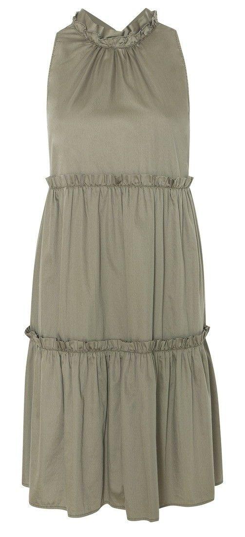 0039 ITALY - Kleid - Aurelie Dress - Khaki