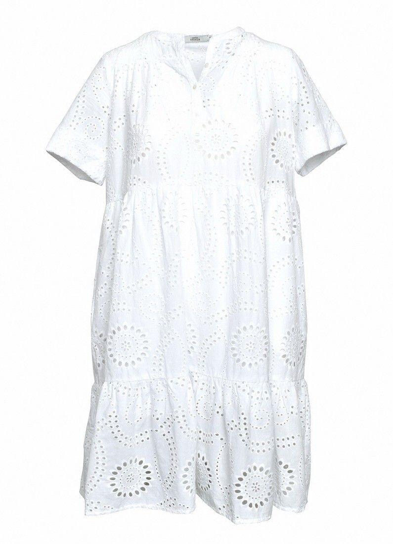 0039 ITALY - Kleid - Ricci Dress - White
