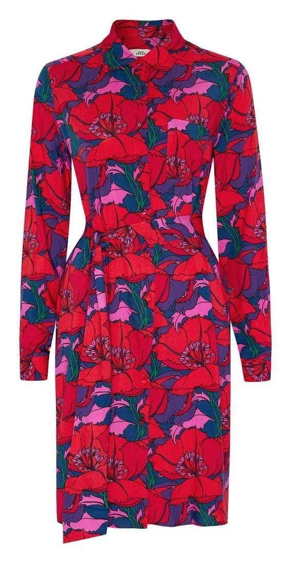 0039ITALY - Damen Kleid - Gracia - Rosso