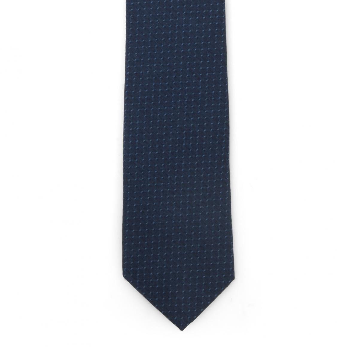 SIEGER - Herren Krawatte - Denim Fine Dots MAW - Deep Blue