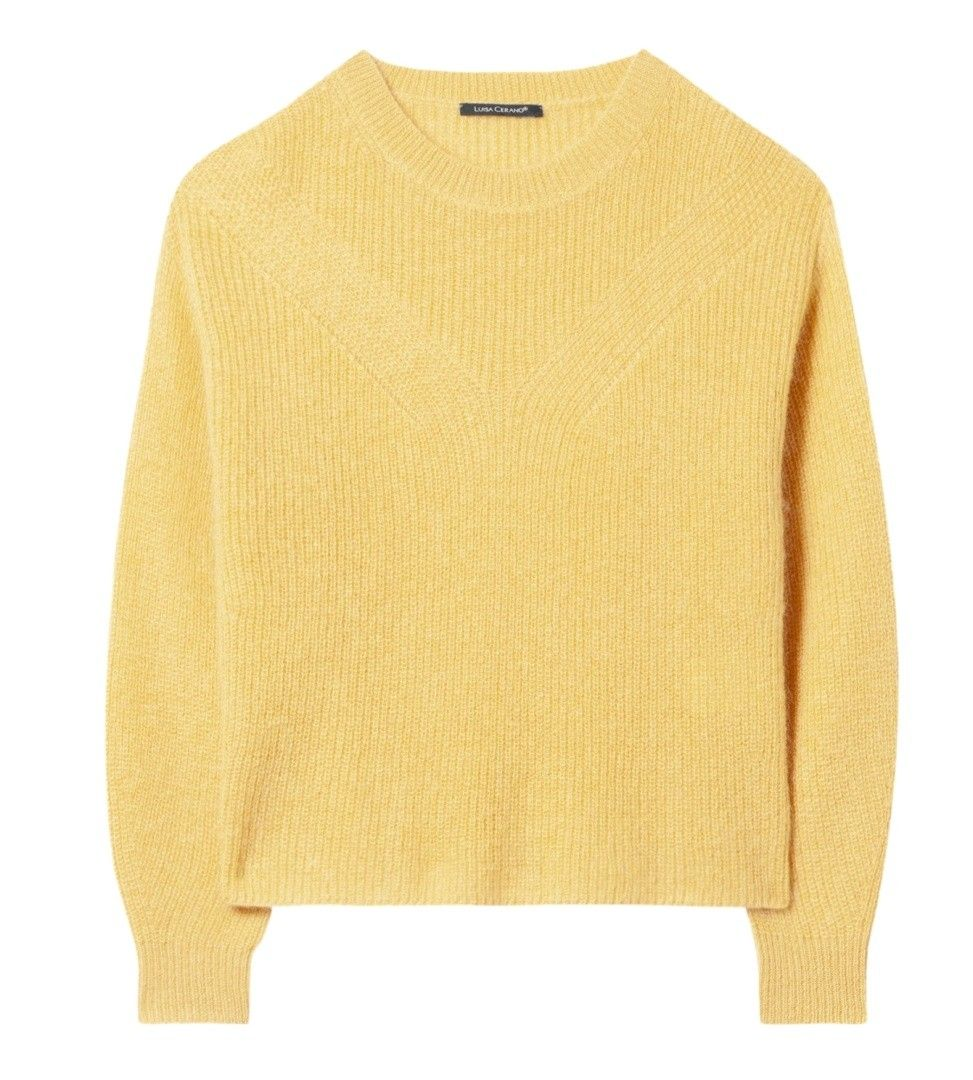 LUISA CERANO - Damen Pullover - Mohair - Soft Yellow
