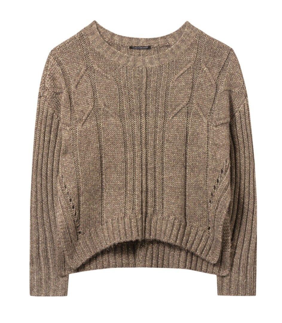 LUISA CERANO - Damen Pullover - Zopf Muster - Quinoa
