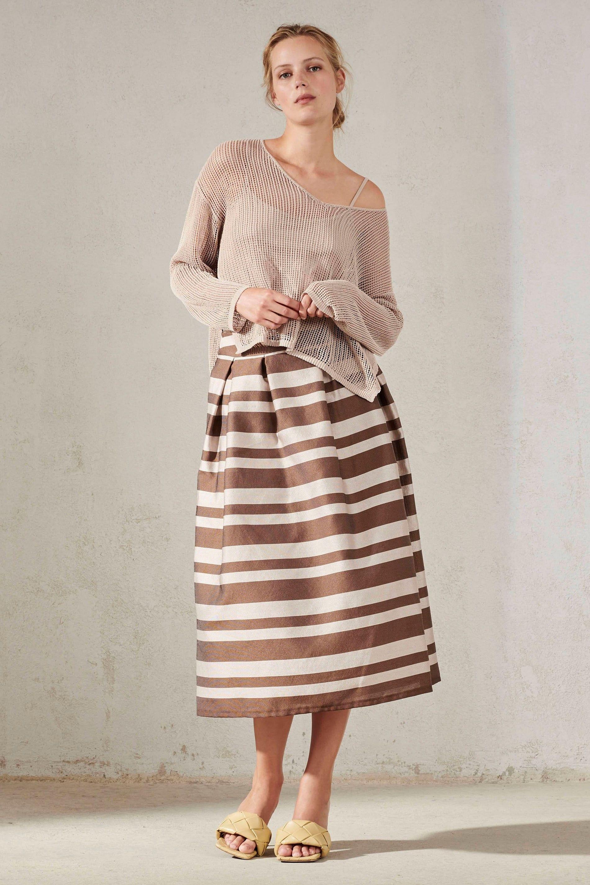 LUISA CERANO - Damen Netz-Pullover - Sand