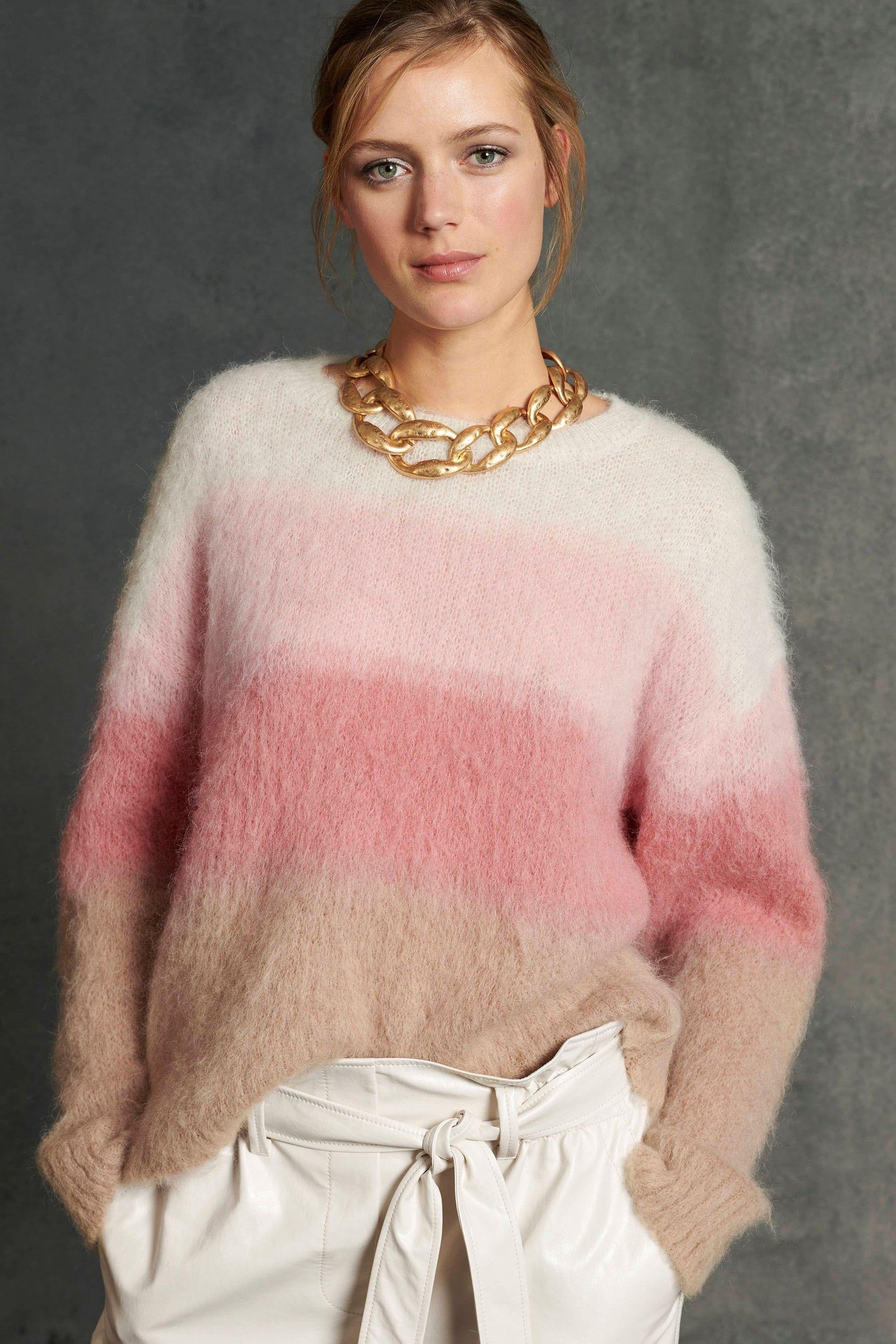 LUISA CERANO - Damen Pullover - mit Dégradé-Effekt - Multi Degrade