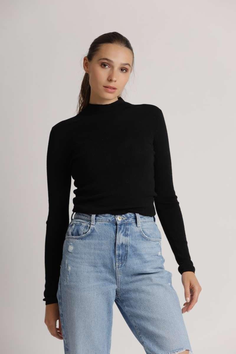 PRINCESS - Damen Pullover - Basic Slim - Nero