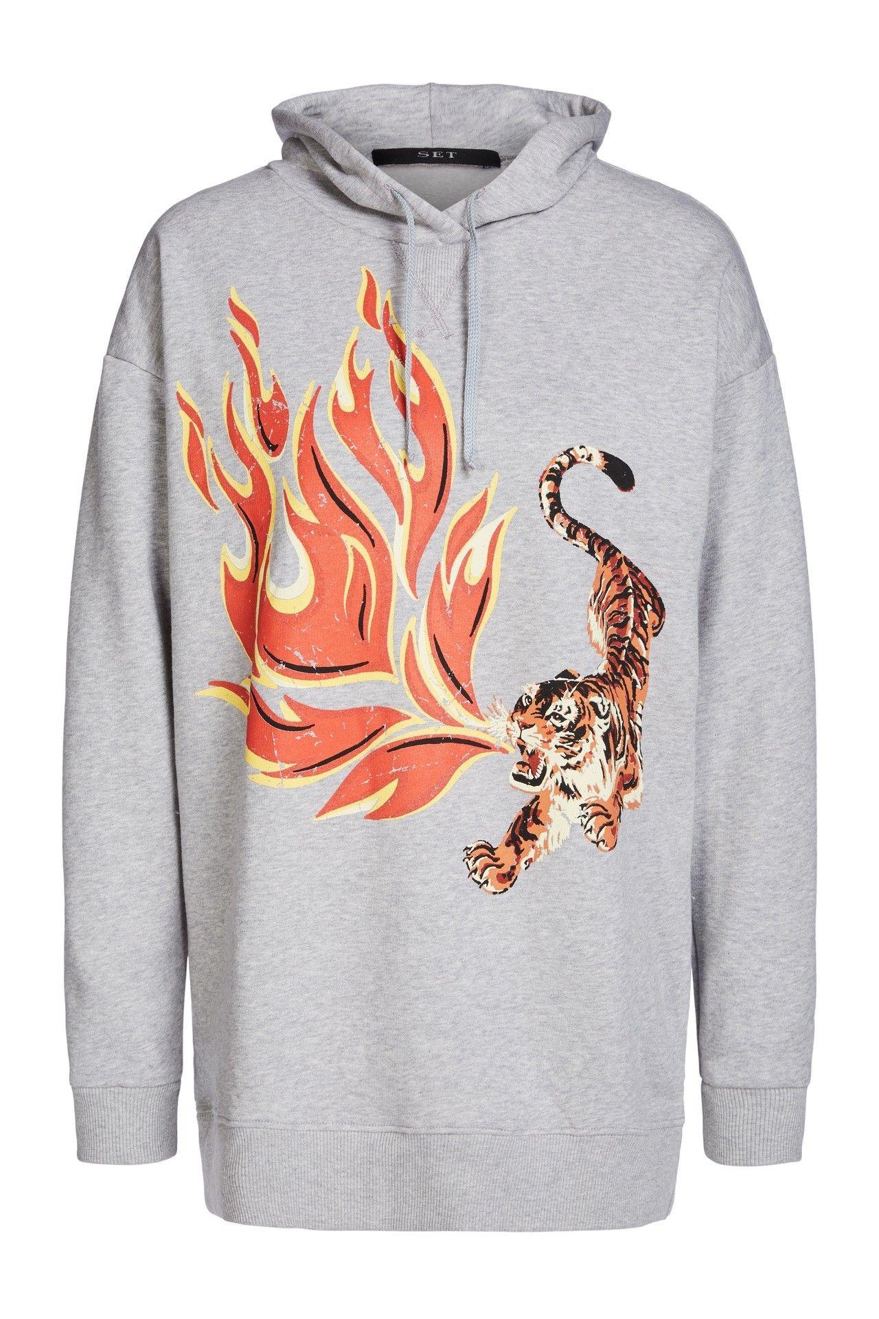 SET - Damen Pullover - Sweatshirt - Light Grey
