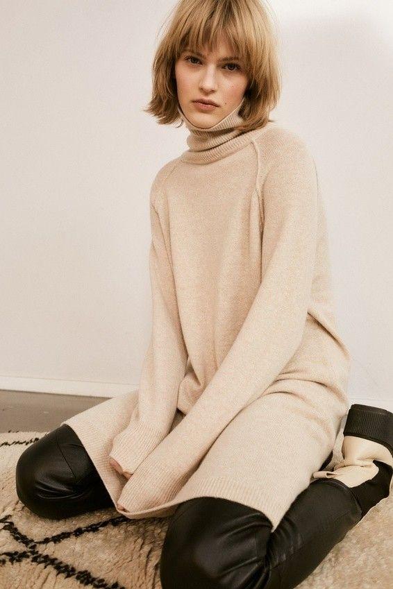 SET - Damen Kleid - Essentials Kleid/Dress - Beige
