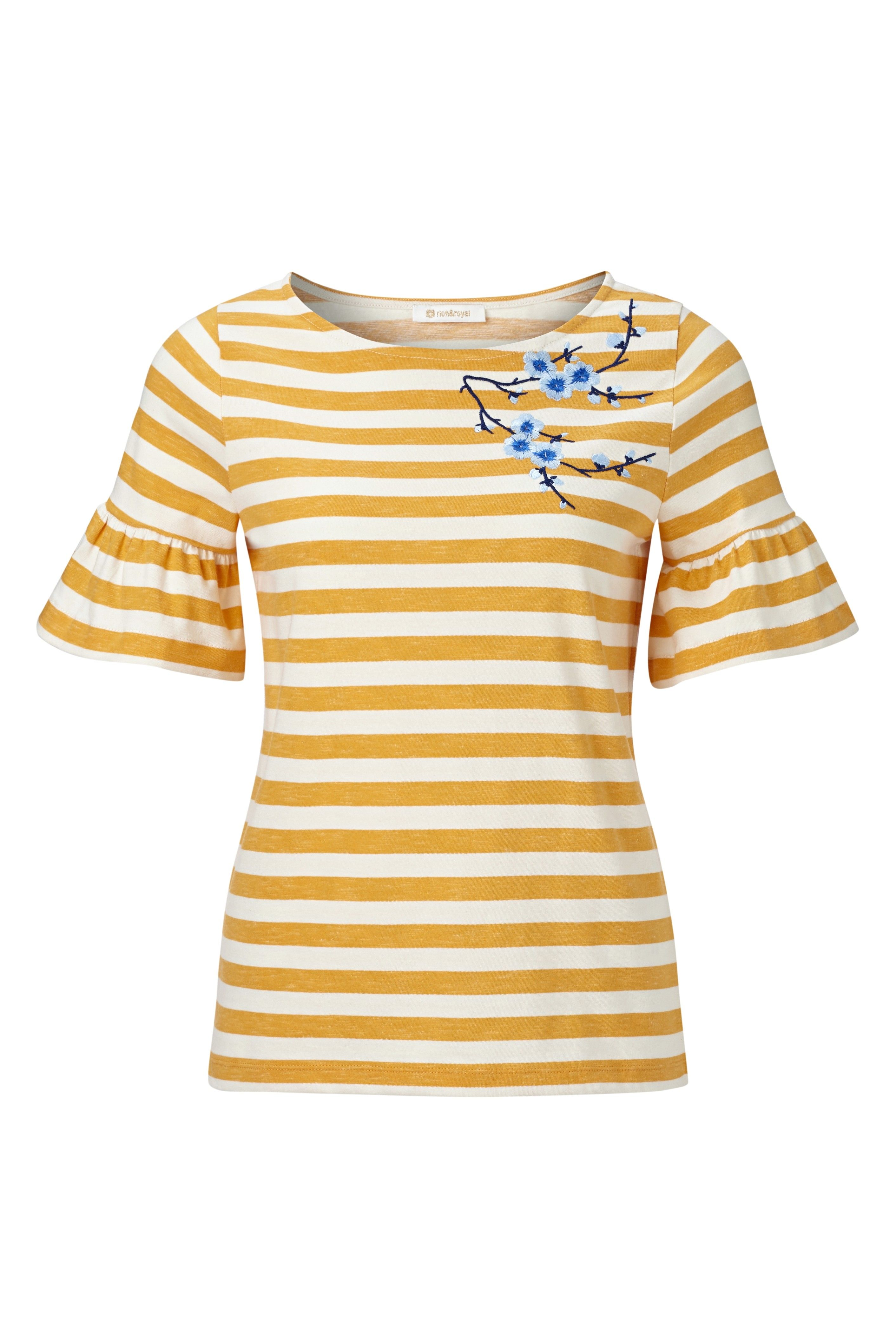 RICH & ROYAL - Damen T-Shirt - Orange Juice
