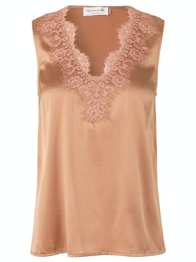ROSEMUNDE - Damen Top - Seidentop - Cafe´au Lait