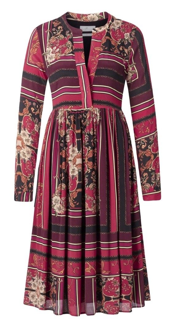 RICH & ROYAL - Damen Kleid - Dress with Volants - Black