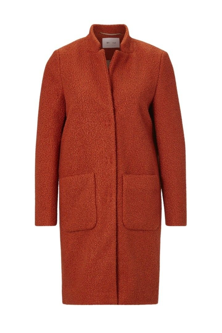 RICH & ROYAL - Damen Mantel - Teddy Coat - Rusty Red