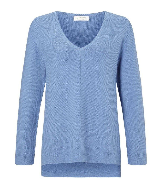 RICH & ROYAL - Damen Pullover - V-Neck Pullover - Spring Blue