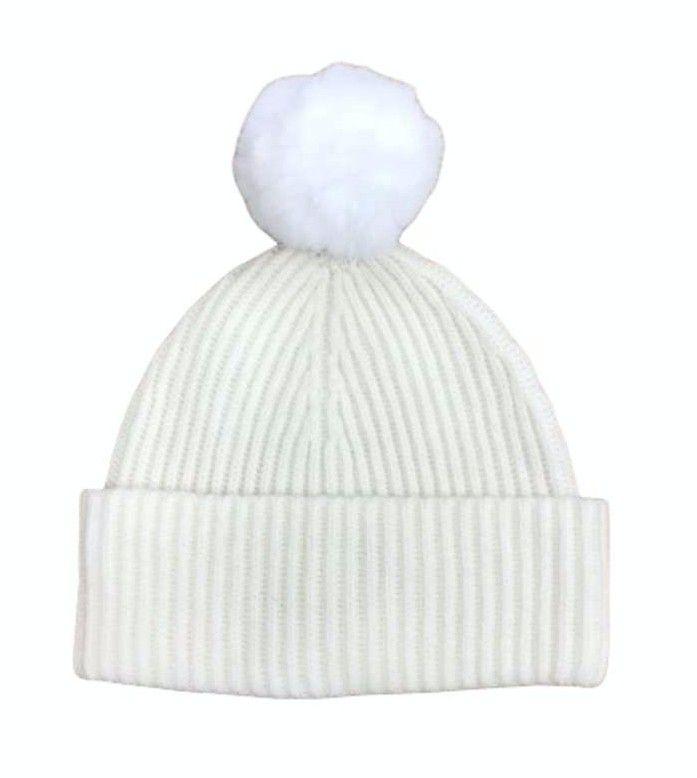 PRINCESS - Damen Mütze Basic Hat with Pompom - Offwhite