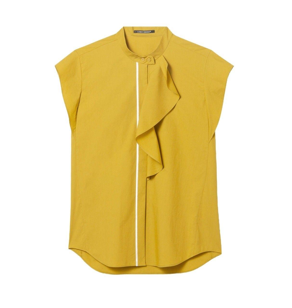 LUISA CERANO - Damen Top - Blusentop - Saffron