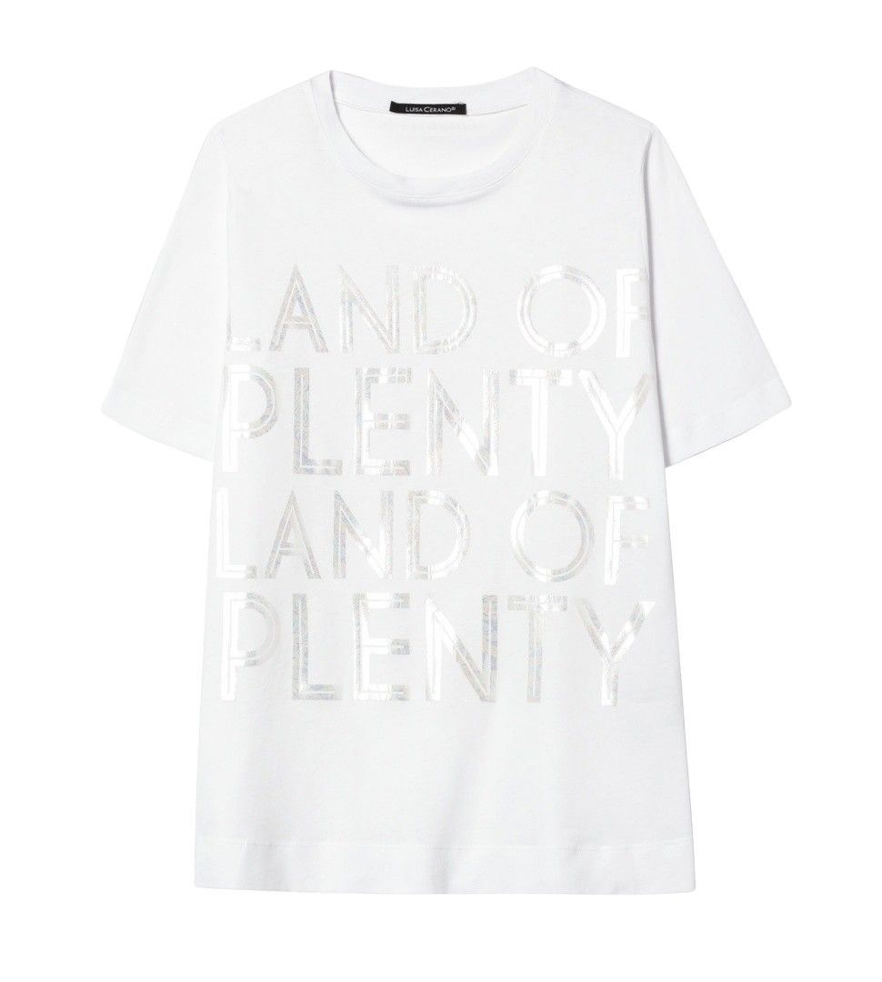 LUISA CERANO - Damen T-Shirt - Land Of Plenty - White