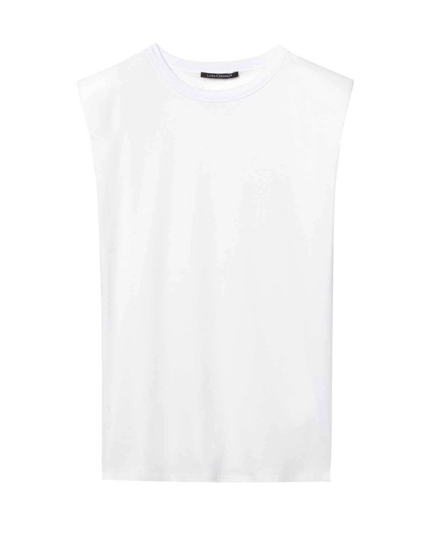 LUISA CERANO - Damen T-Shirt - T-Shirt mit Schulterbetonung - White