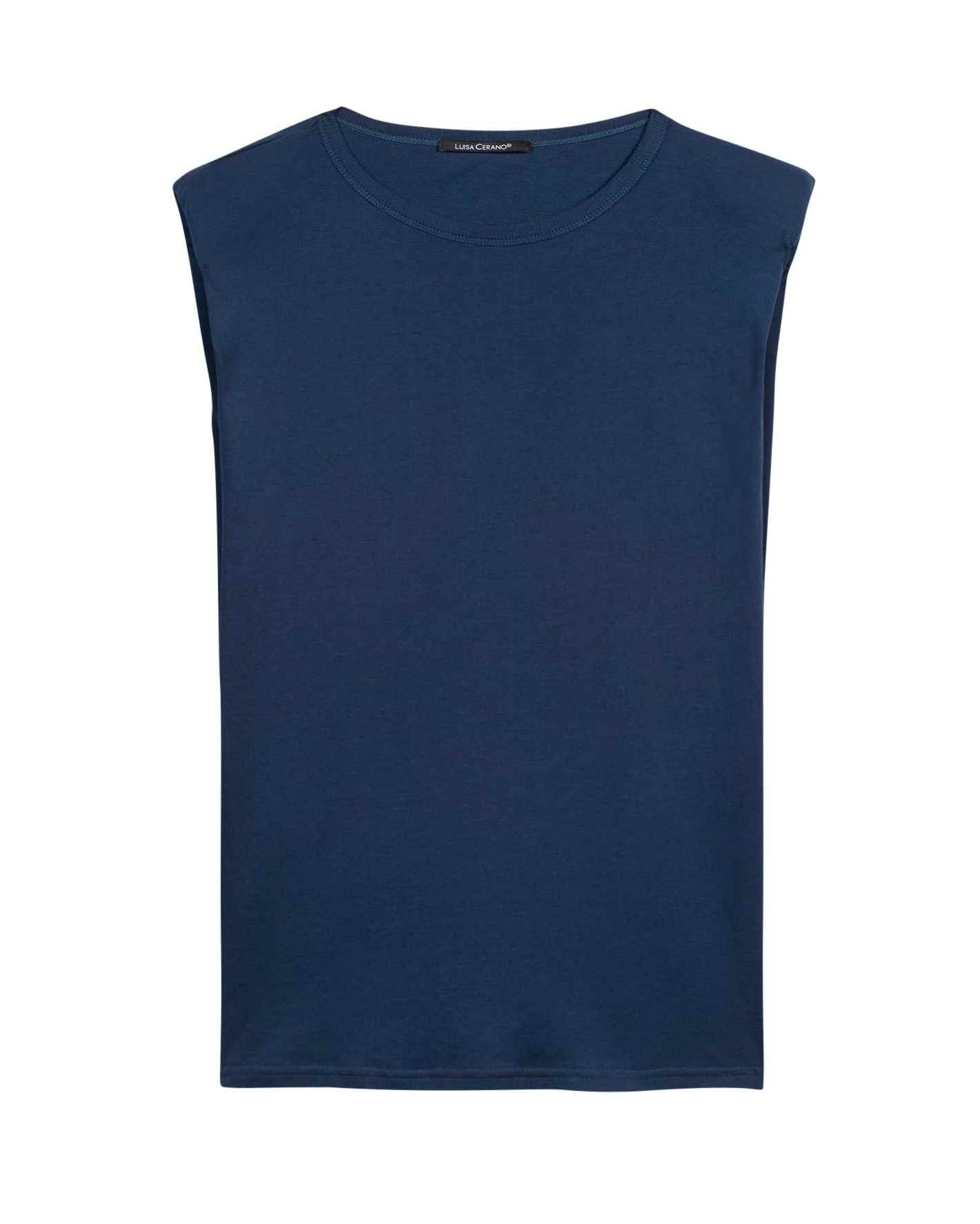 LUISA CERANO - Damen T-Shirt - T-Shirt mit Schulterbetonung - Ink