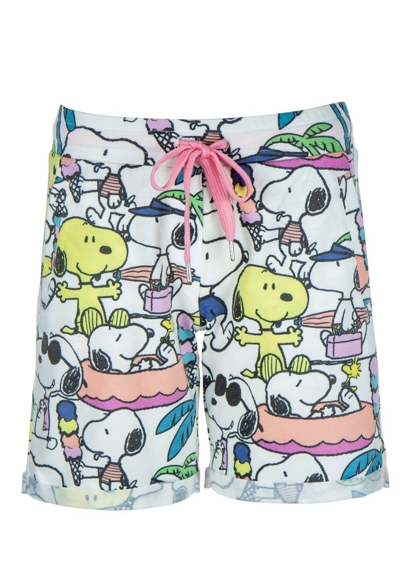 PRINCESS GOES HOLLYWOOD - Damen Shorts - Clear White Snoopy