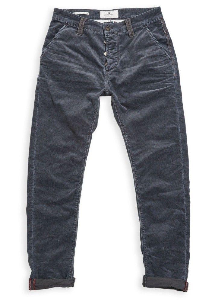 BLUE DE GENES - Herren Hose - Paulo Pocket Zoldo Cord - Steel Grey