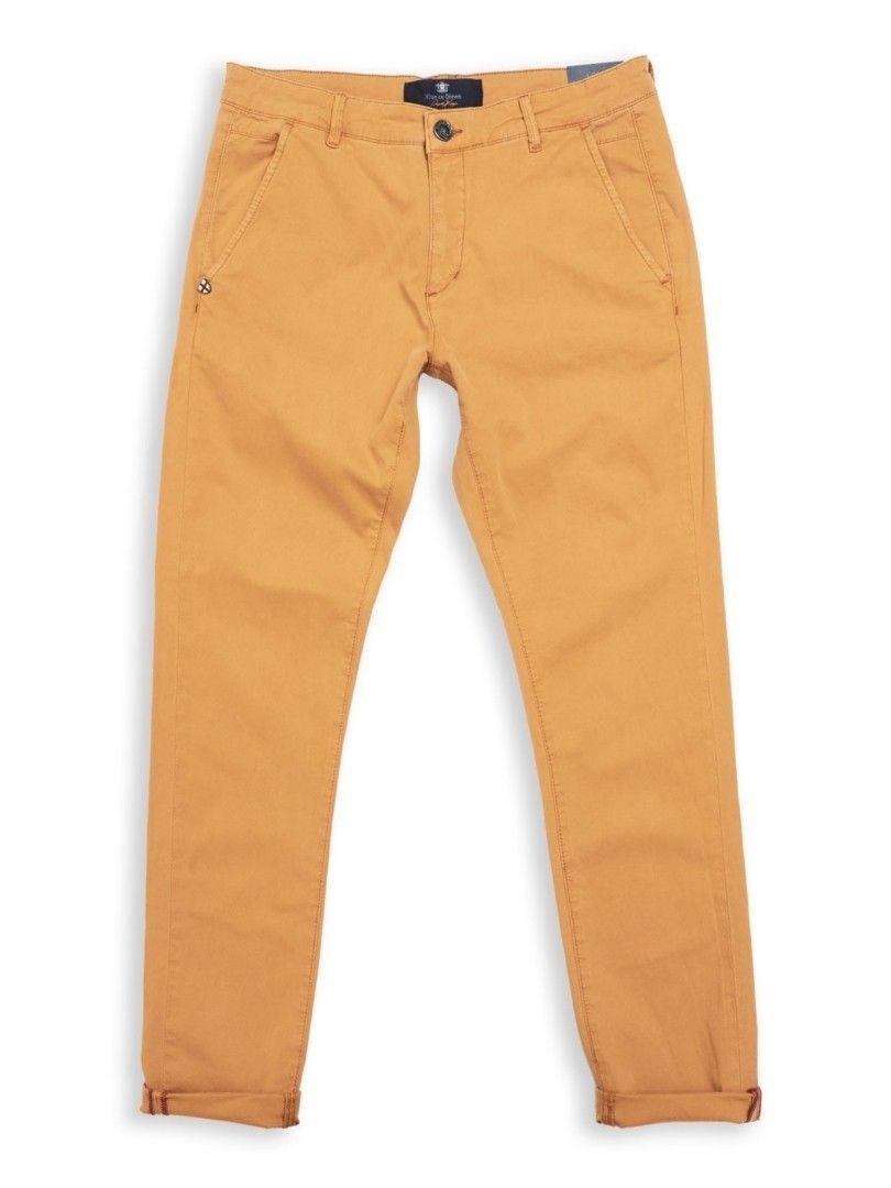BLUE DE GÊNES - Herren Hose - Teo Chino - Vintage Yellow Regular