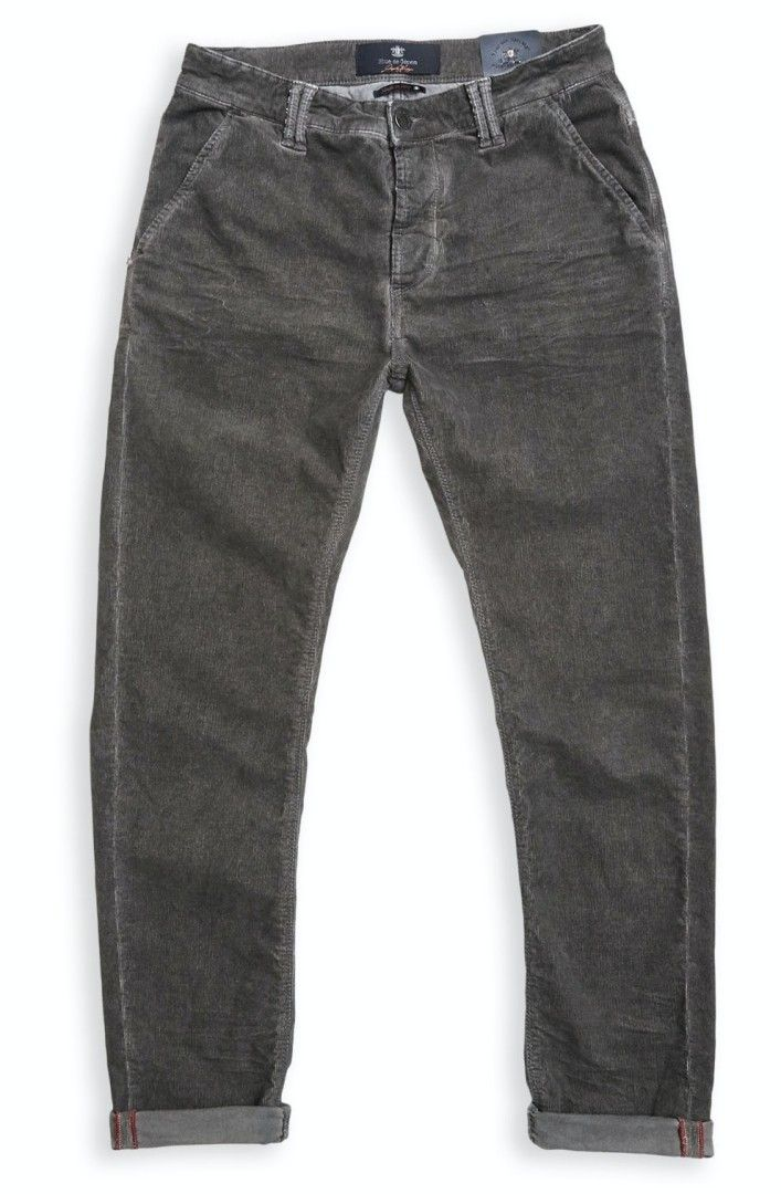 BLUE DE GÊNES - Herren Hose - Paulo Zoldo Super Oil Trousers - Steel Grey