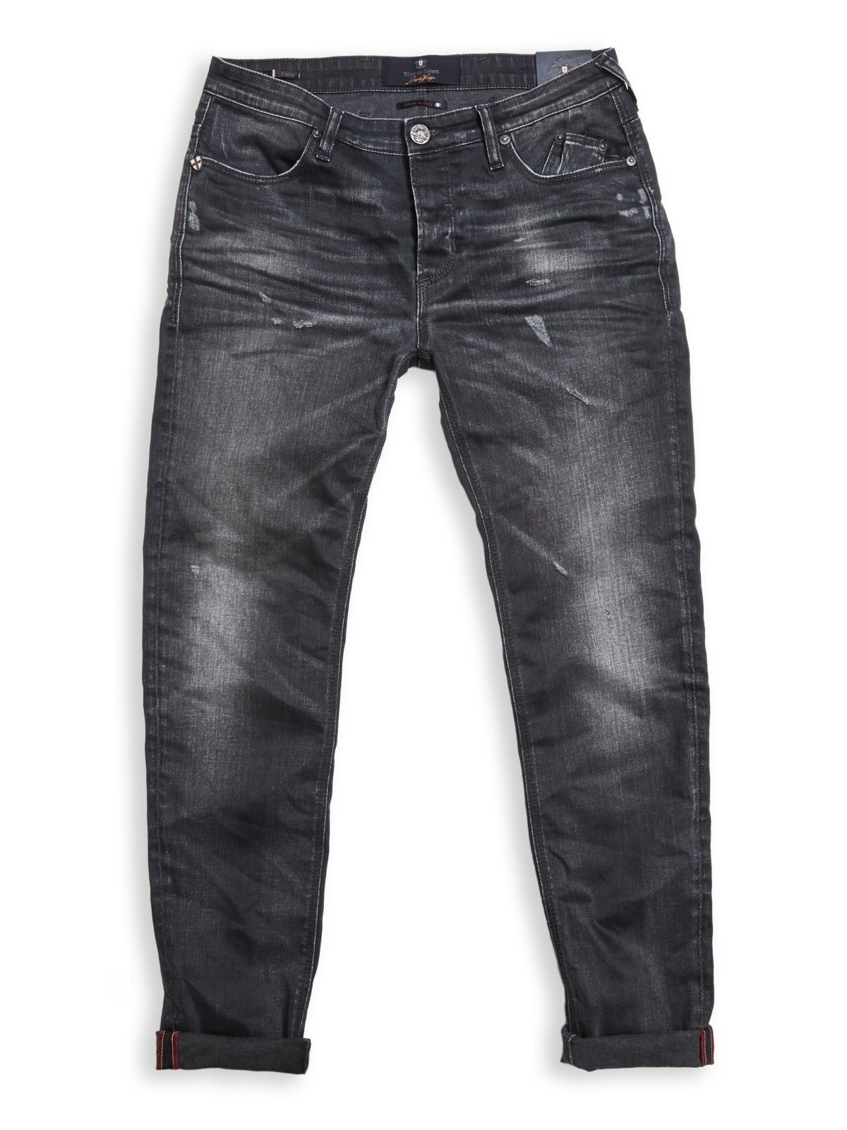 BLUE DE GENES - Herren Hose - Repi Cana Jeans - Dark Grey