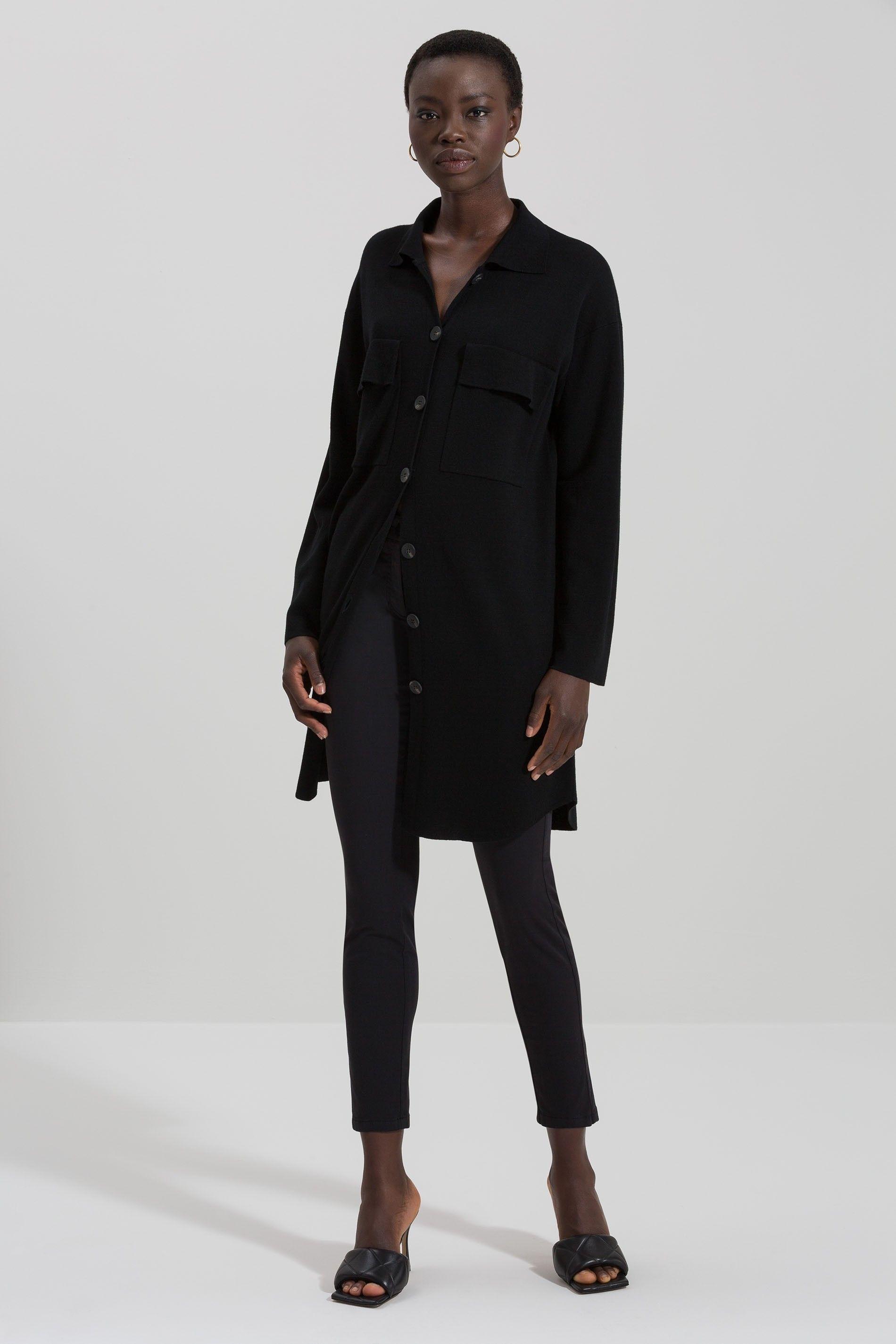 LUISA CERANO - Damen Overshirt - aus Wolle - Black