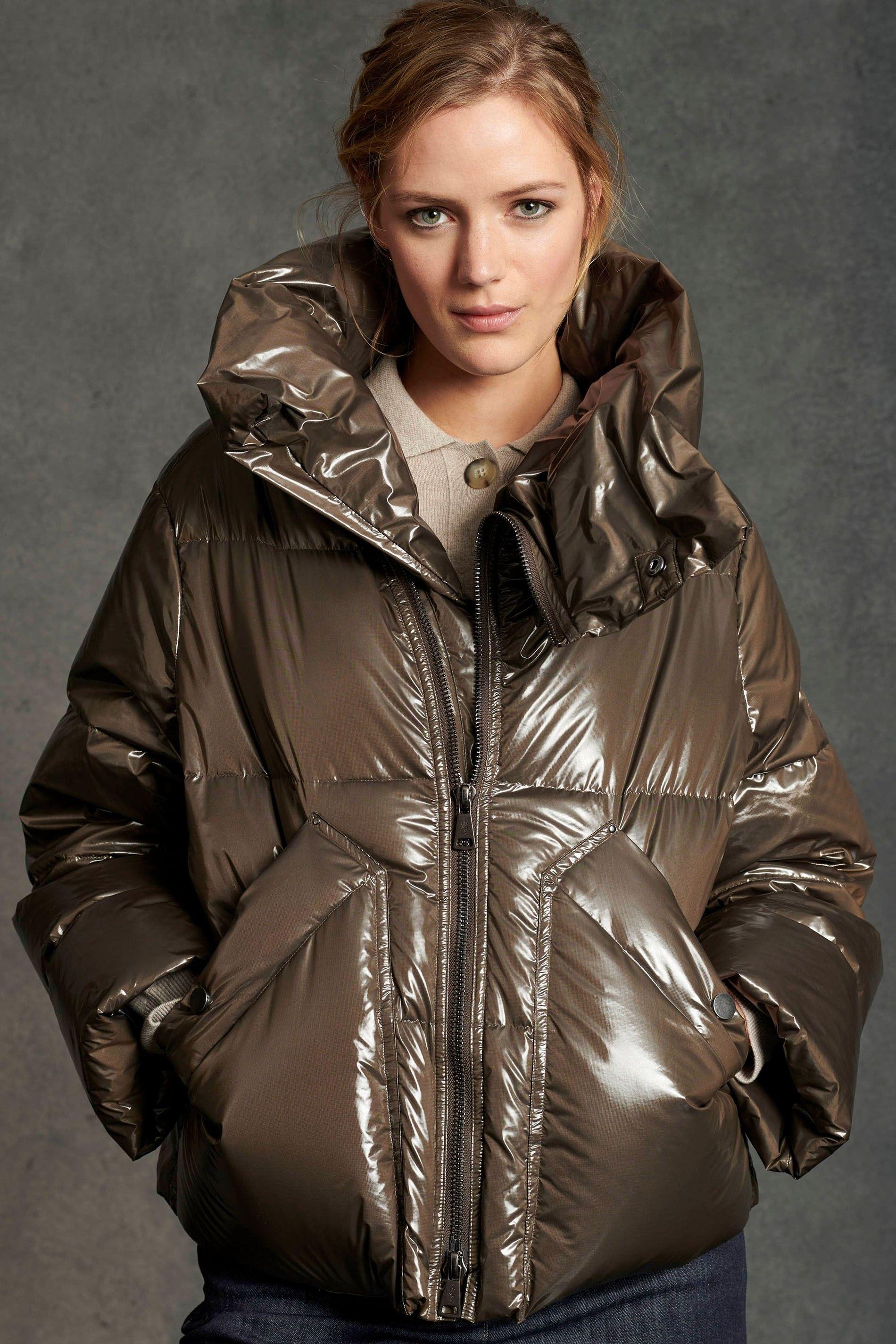 LUISA CERANO - Damen Daunenjacke - mit Metall-Zipper - Earthy Brown