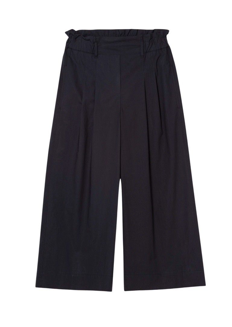LUISA CERANO - Damen Hose - Popeline Widelegs Pants - Dark Blue