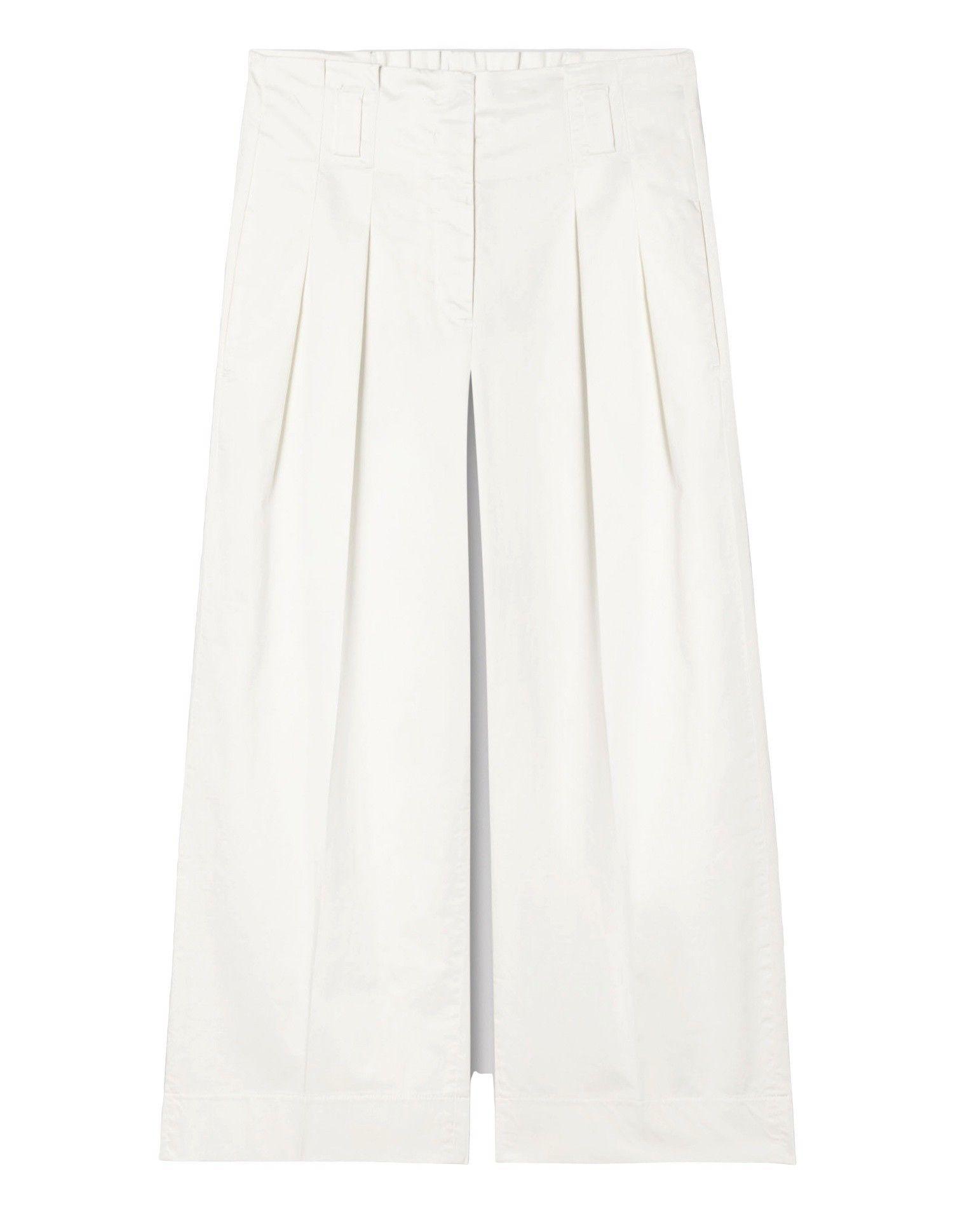 LUISA CERANO - Damen Hose - Wideleg Pants - Off White