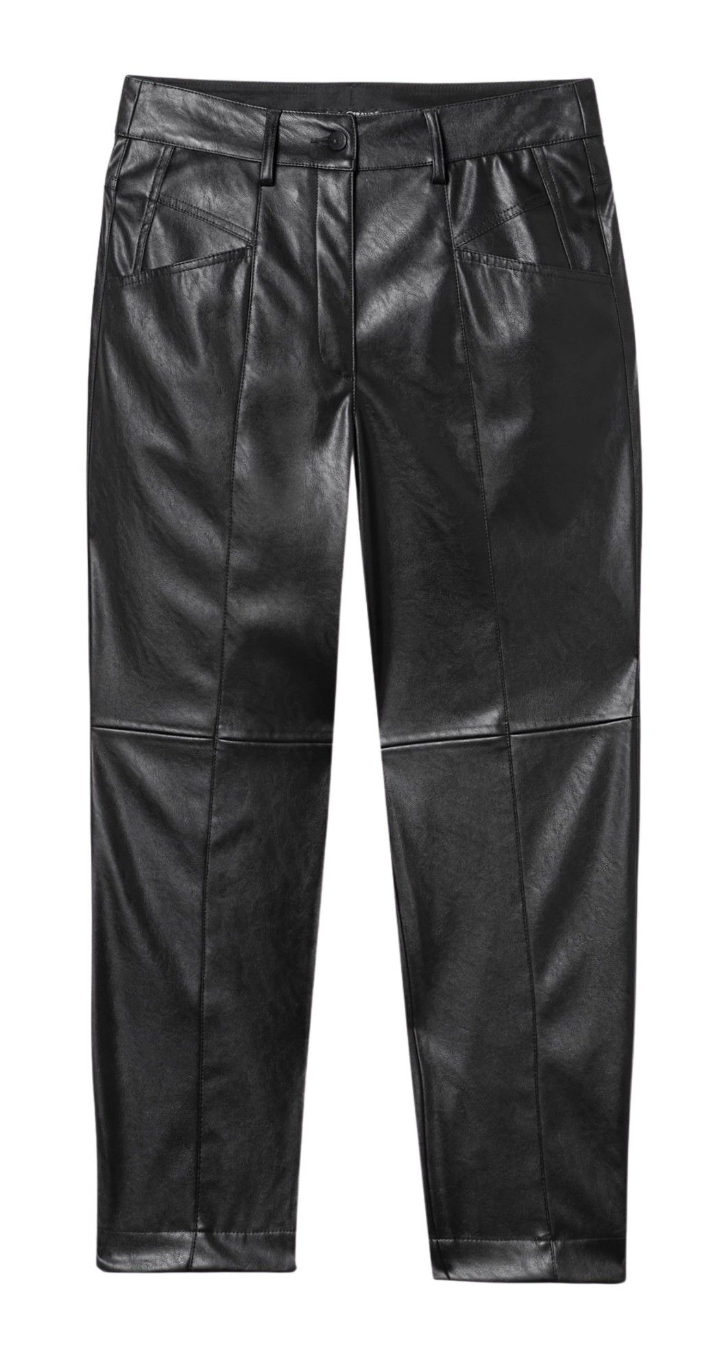 LUISA CERANO - Damen Hose - Tapered in Fake-Leather-Black