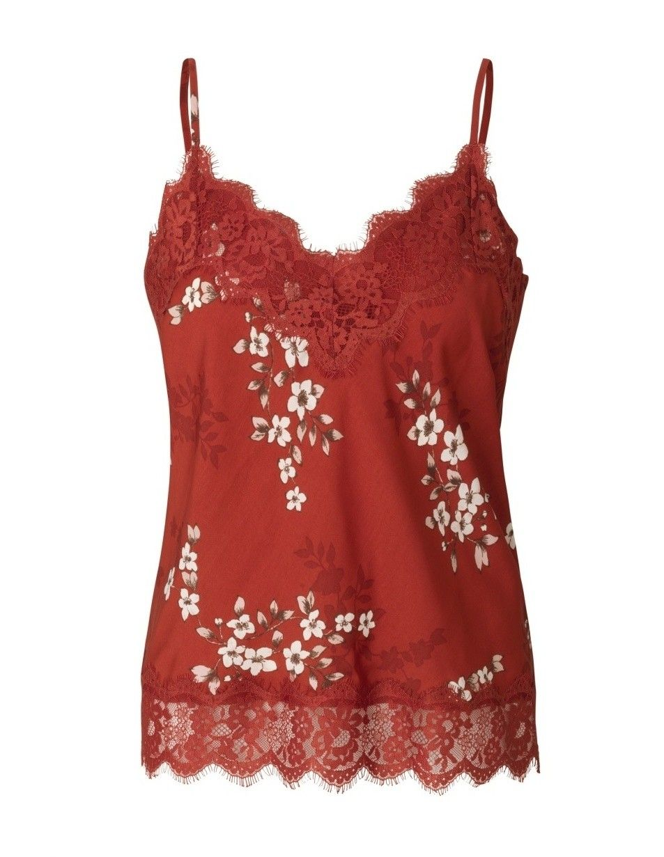 ROSEMUNDE - Damen Strap Top - Red Cherry