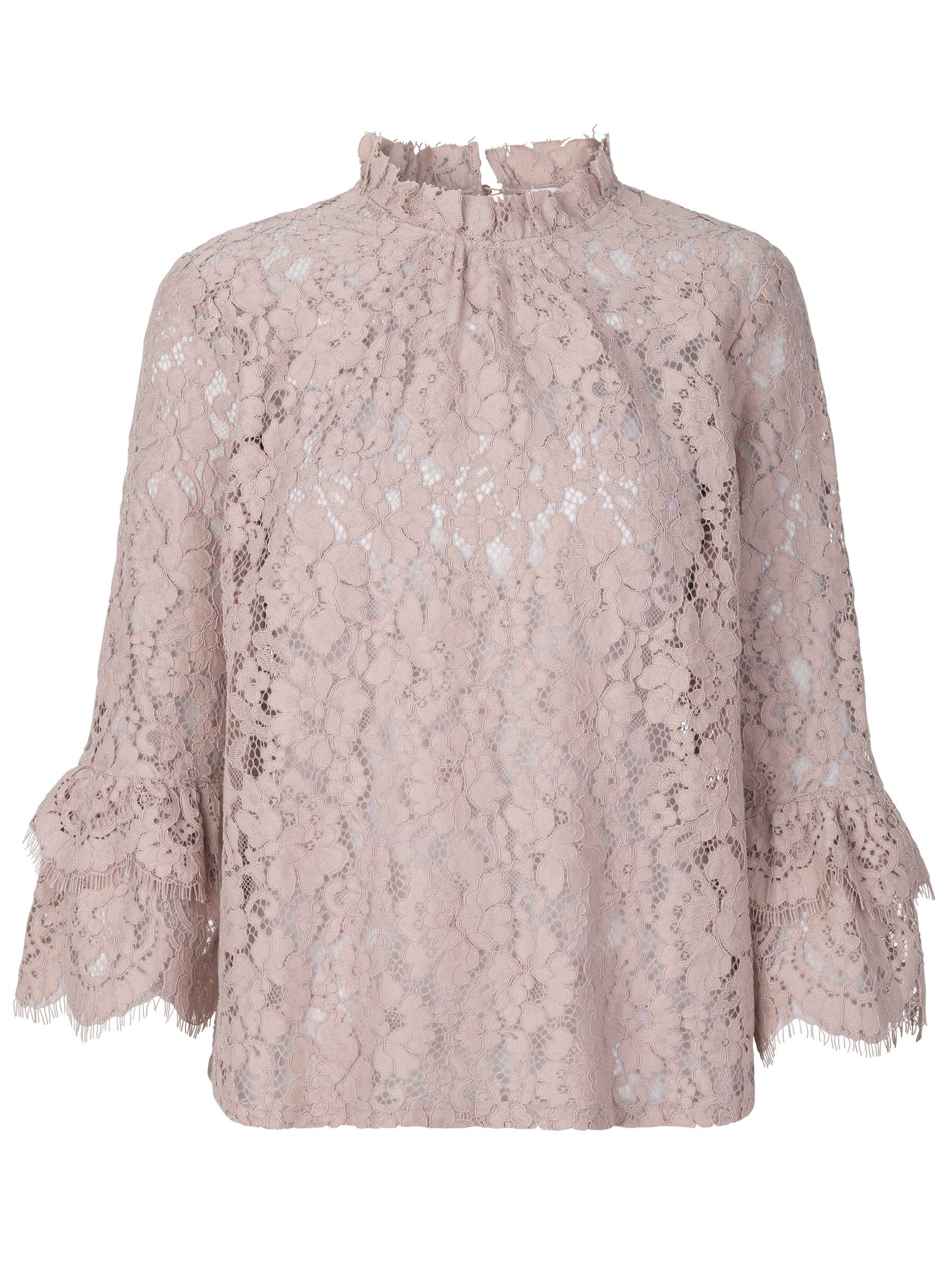 ROSEMUNDE - Damen Bluse - Blouse 3/4 Sleeve - Vintage Powder