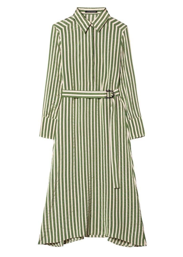 LUISA CERANO - Damen Kleid - Hemdblusenkleid mit Streifen - Standard