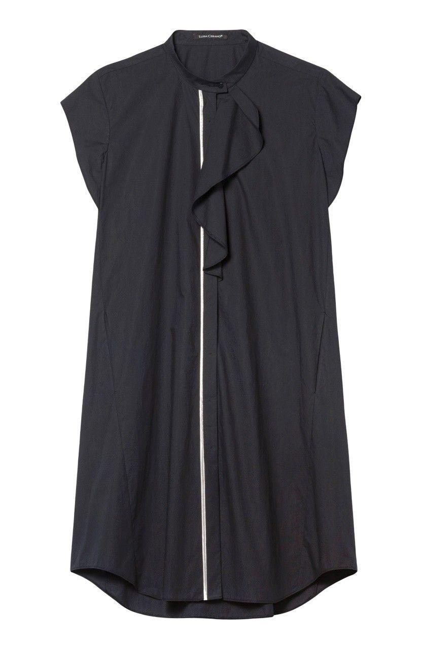 LUISA CERANO - Damen Kleid - Hemdblusenkleid - Dark Blue