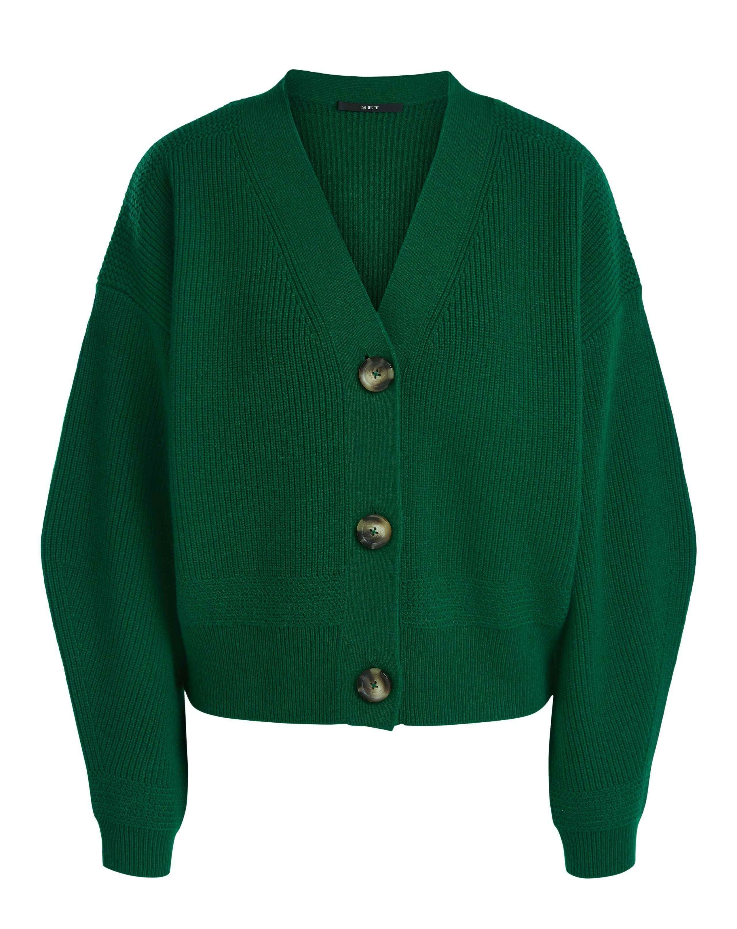 SET - Damen Cardigan - Spring Green