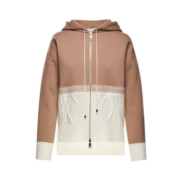 BEATRICE.B - Damen Strickjacke - Cardigan 8000 Tessuto NEEDLE - Camel