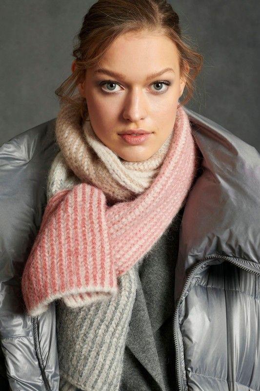 LUISA CERANO - Damen Schal - aus Alpaka-Mix - Panna Cotta