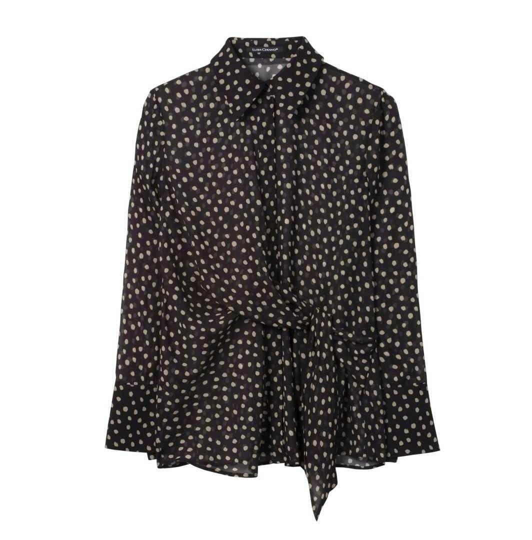 LUISA CERANO - Damen Bluse - Dot Print - Multi