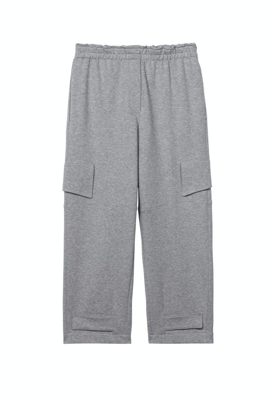 LUISA CERANO Damen Hose - Sweat-Wideleg-Pants - Light Grey