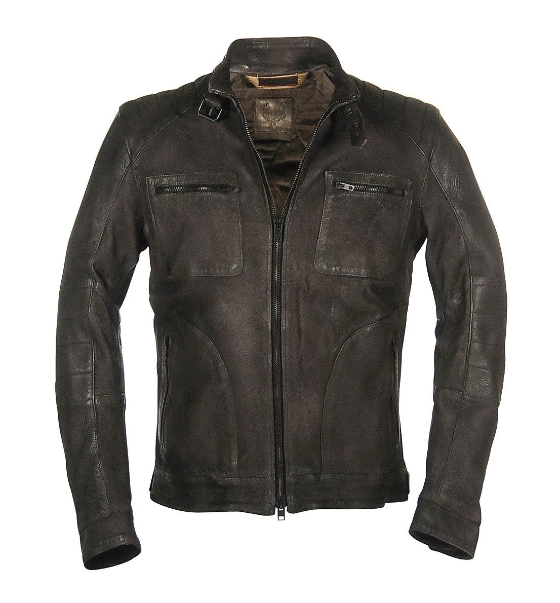 CERVOLANTE - Lederjacke - Biker Deer Leather Jacket - Dark Gray