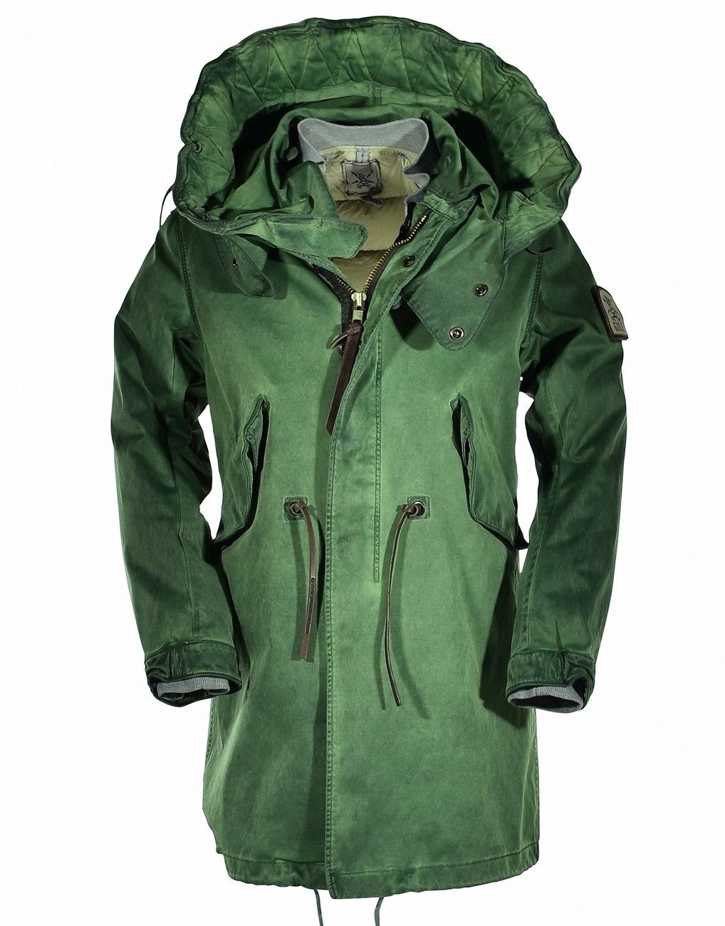 GJO.E - Herren Parka TLC + Down Jacket - Vintage Green