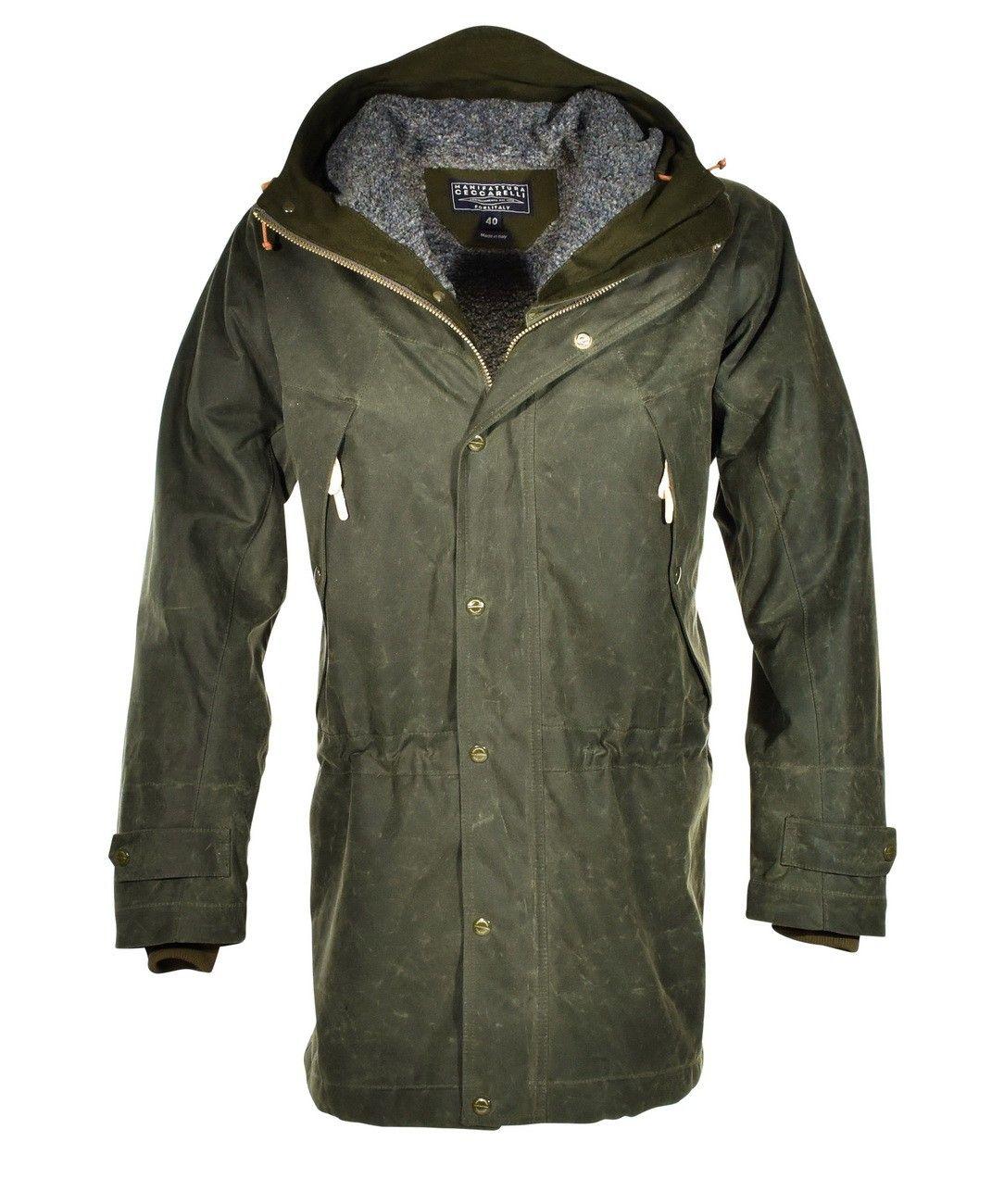 MANIFATTURA CECCARELLI - Herren Jacke - Long Mountain Jacket - Dark Green