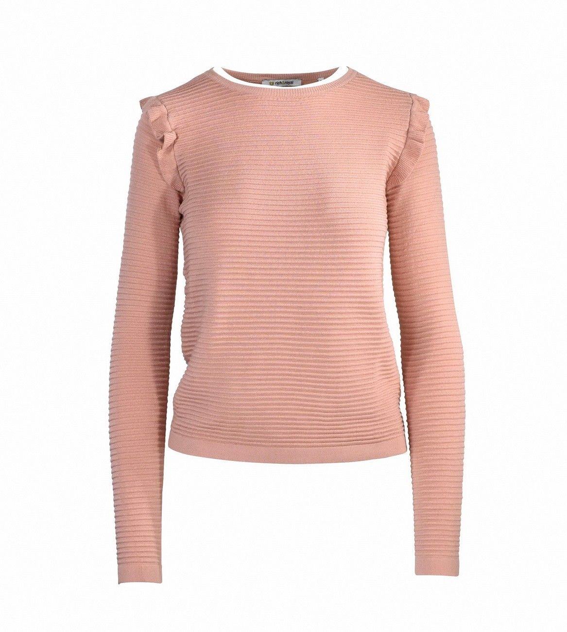 RICH & ROYAL - Damen Pullover - Crew Neck - Powder