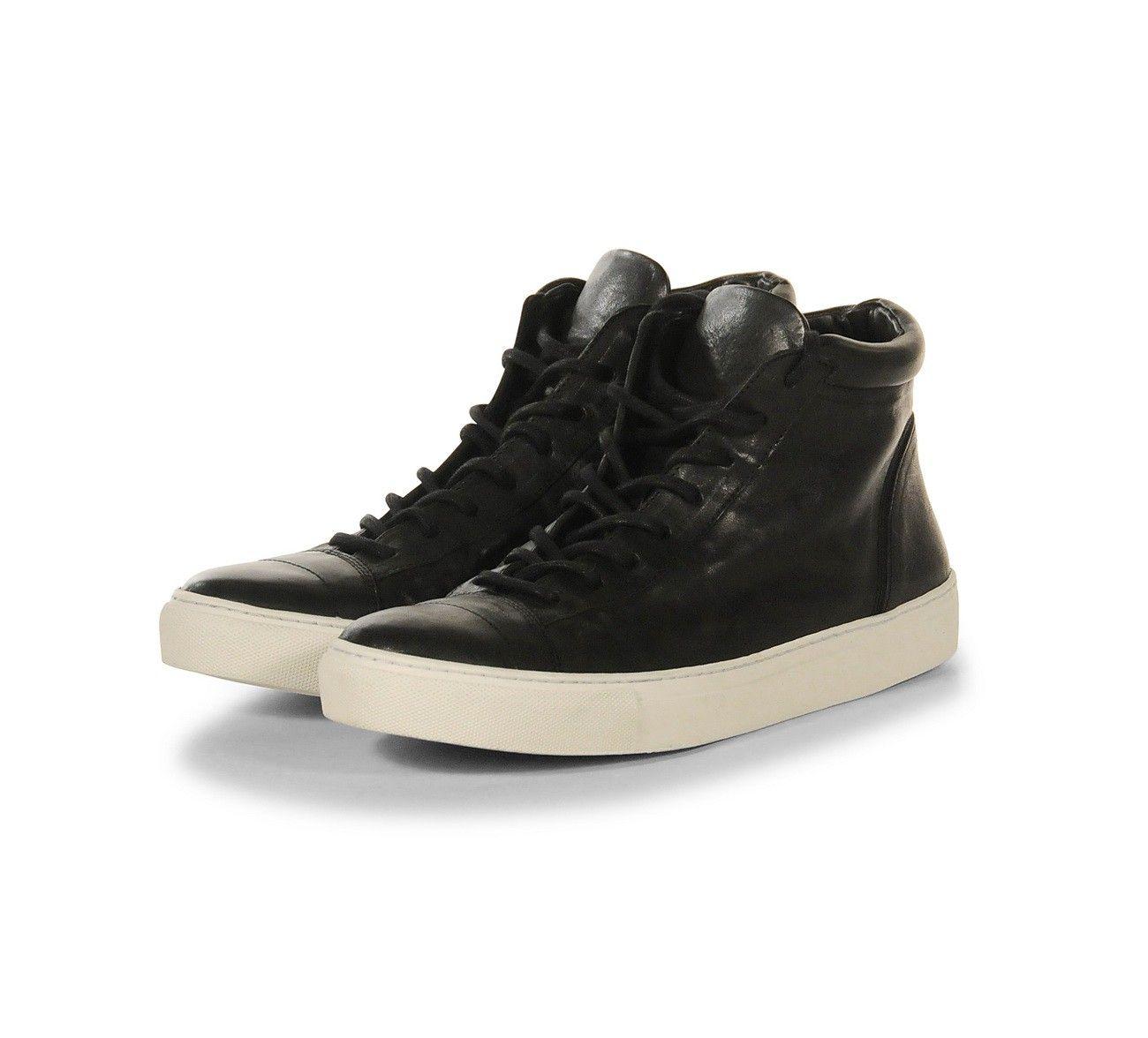 THE LAST CONSPIRACY - Herren Sneaker - Jorge - Horse Leather - Black/White