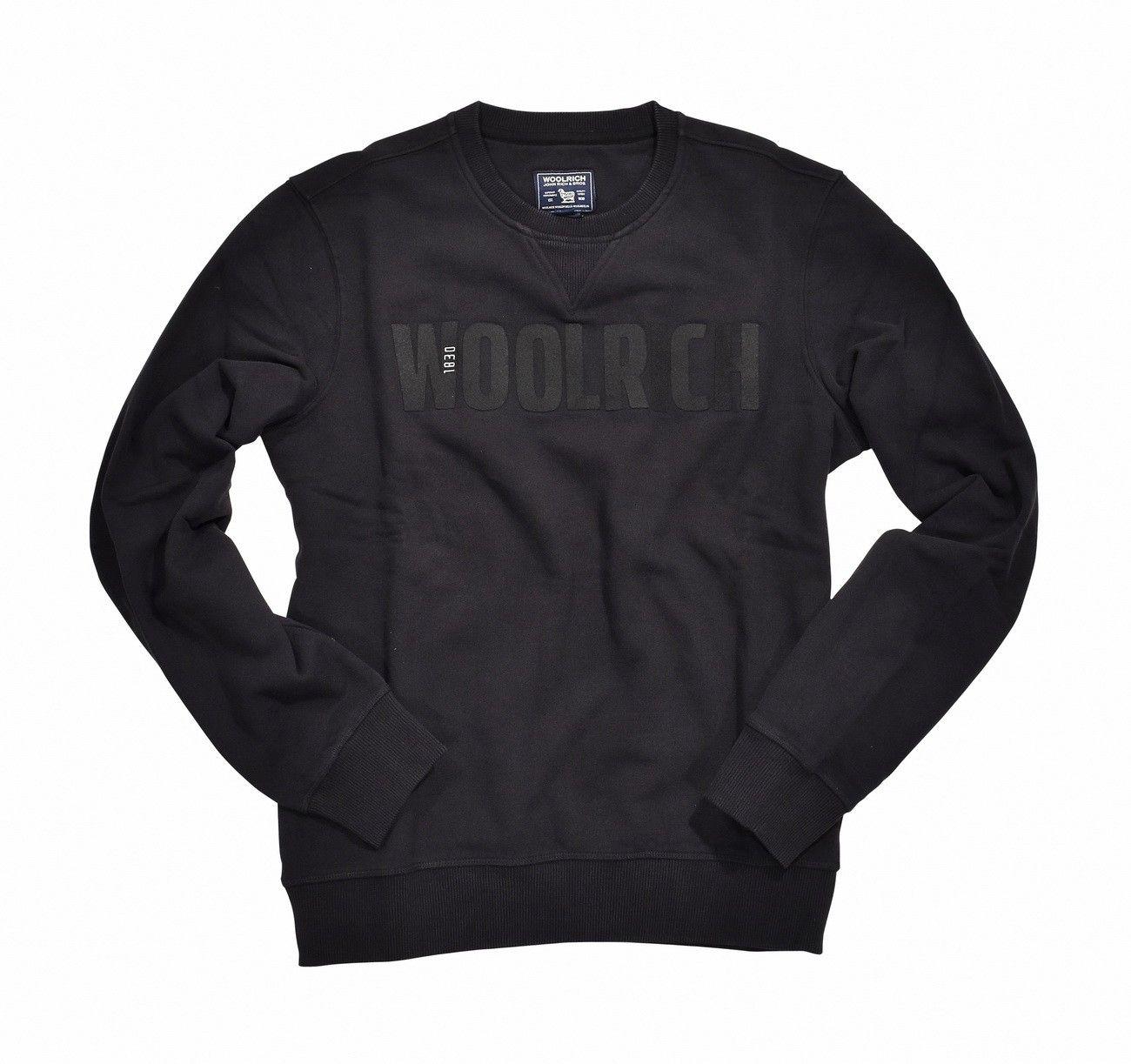 WOOLRICH - Herren Pullover - Brushed Crew Neck - Black