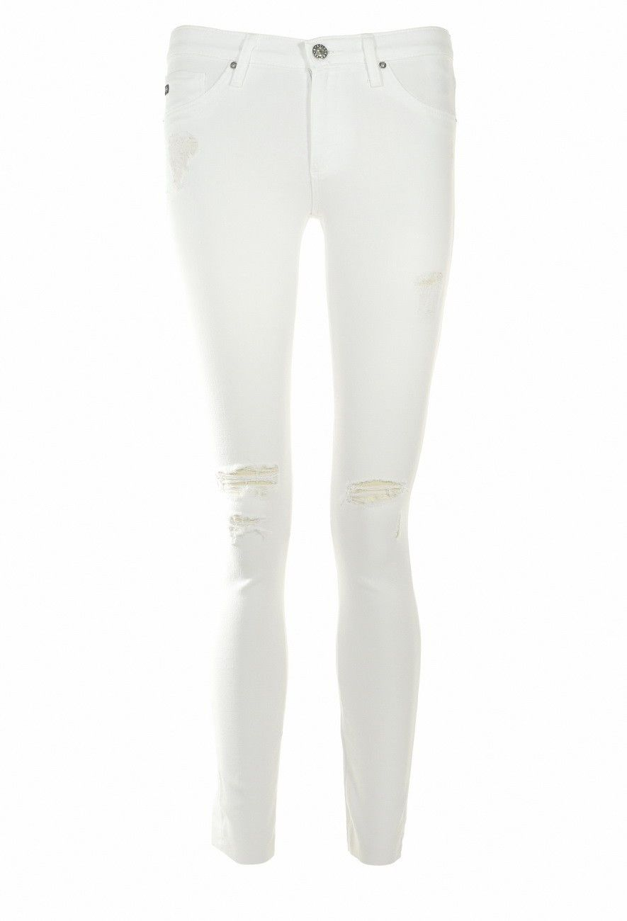 ADRIANO GOLDSCHMIED - Damen Jeans - The Legging Ankle - White Destroyed